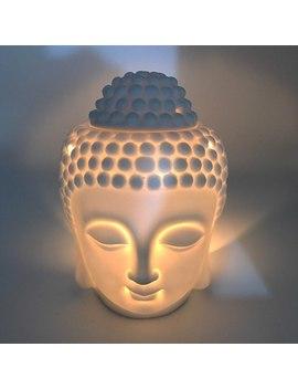 Ceramic Aromatherapy Oil Burner Buddha Head Aroma Essential Oil Diffuser Indian Tibetan Incense Burner Buddhist Supplies 60 by Ali Express.Com