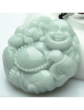 100% Natural Grade A Jade Pendant Lucky Aqua Jadeite Buddha Pendant Certified by Ali Express.Com