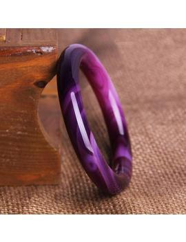 Pure Natural Ice Species Purple Agates Bracelet Jades Bracelet Round Terms Color Purple Pith Bangle by Ali Express.Com