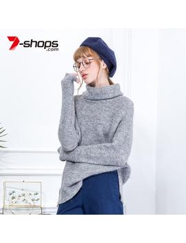 Ccibuy Ab0117 Wool Turtleneck Women Sweater Long Sleeve Knitted Women Jumper Drop Shoulder Tops Pullovers Female Sweaters 2018 by Ali Express.Com