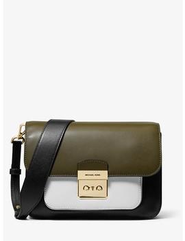 Sloan Editor Color Block Leather Shoulder Bag by Michael Michael Kors