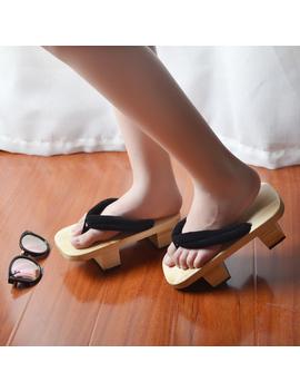 Mazefeng 2019 Unisex Sandals Japanese Geta Wooden Slippers Lover Clogs Native Shoes Women&Men Cosplay Costume Flats Flip Flops by Ali Express.Com