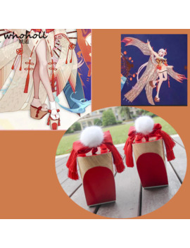 Whoholl Cos Geta Onmyoji Shiranuhi Cosplay Costumes Japanese Clogs Wooden High Quality Stage Shoes 10cm Thick Sole Free Socks by Ali Express.Com