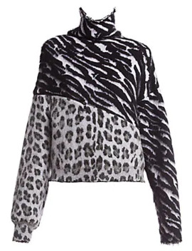 Zebra & Leopard Print Sweater by Unravel Project