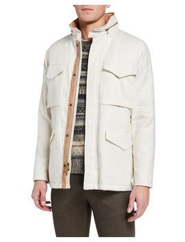 Men's Canvas Field Jacket by Vince
