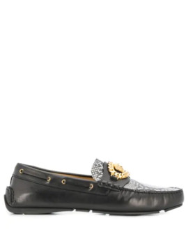 Medusa Chain Loafers by Versace