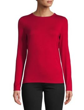 Long Seeve Solid Pullover Top by Lord & Taylor