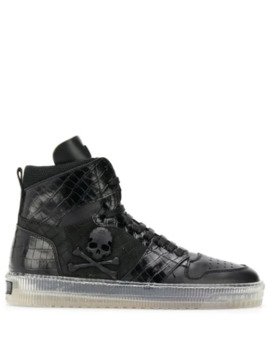 Skull High Top Sneakers by Philipp Plein