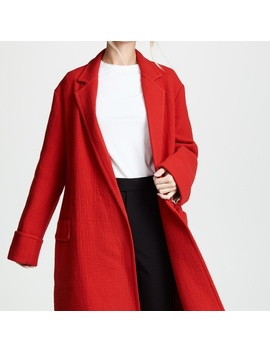 Helmut Lang Nwt Red Wool Coat S by Helmut Lang
