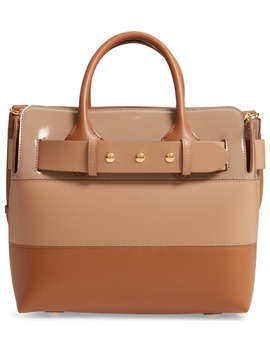 Small Belt Colorblock Leather Satchel by Burberry
