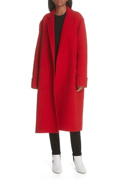 Belted Wool Blanket Coat by Helmut Lang