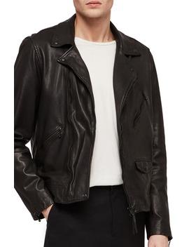 Holt Slim Fit Leather Biker Jacket by Allsaints