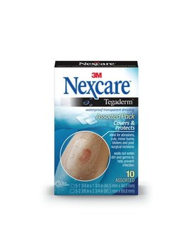 Nexcare Tegaderm Transparent Dressing, 5 1 3/4 Inch X 1 3/4 Inch And 5 2 3/8 Inch X 2 3/4 Inch by Nexcare