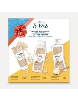 St. Ives Holiday Gift Pack For Sensitive Skin Gentle Smoothing Skin Care With Scrub & Mask, Body Wash And Body Lotion by Walmart