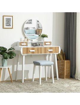 White Coggan Vanity Set With Mirror by Ebern Designs
