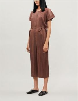 Pleated Woven Jumpsuit by Pleats Please Issey Miyake