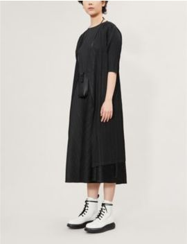 Pleated Satin Wrap Coat by Pleats Please Issey Miyake