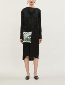 Cropped Pleated Crepe Jacket by Pleats Please Issey Miyake