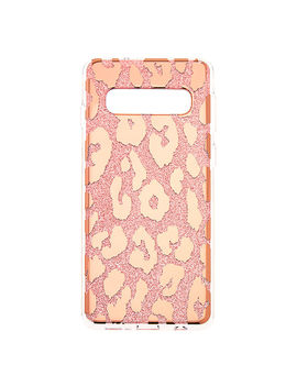 Glitter Leopard Print Phone Case   Fits Samsung Galaxy S10 by Claire's