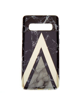 Black Geometric Marble Phone Case   Fits Samsung Galaxy S10 by Claire's