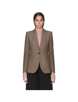 Black & Orange Single Breasted Fitted Blazer by Victoria Beckham