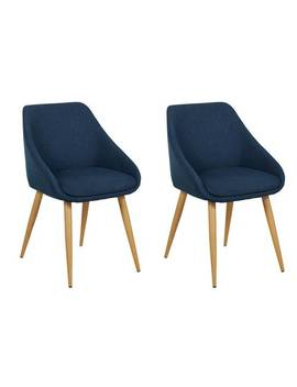 Argos Home Skandi Pair Of Fabric Dining Chairs   Blue922/5312 by Argos