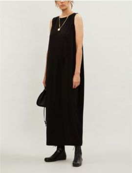 Scoop Neck Sleeveless Stretch Jersey Slip Dress by Issey Miyake