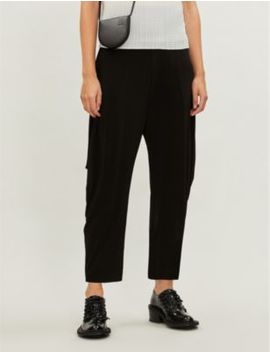 High Rise Stretch Jersey Tapered Trousers by Issey Miyake