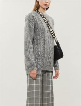 Crewneck Cable Knit Alpaca Blend Jumper by Stella Mccartney