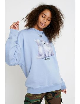Lazy Oaf First Date Crew Neck Sweatshirt by Lazy Oaf