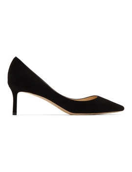 Black Suede Romy 60 Heels by Jimmy Choo