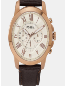 Men Cream Coloured Analogue Watch Fs4991 by Fossil
