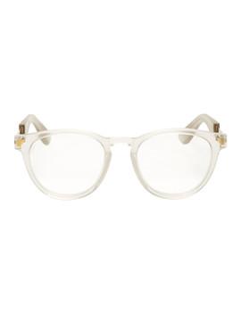 Transparent & Gold Mykita Edition Mmraw011 Glasses by Maison Margiela