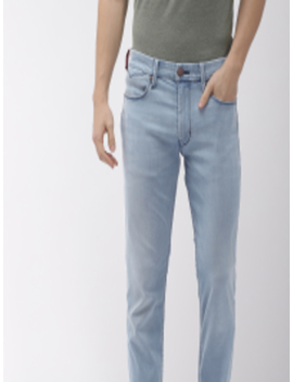Men Blue 511 Performance Slim Fit Mid Rise Clean Look Stretchable Jeans by Levis