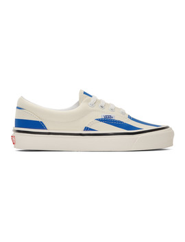 Blue & White Striped Era 95 Dx Sneakers by Vans