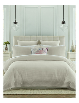 Eleonore Quilt Cover Set In White by Heritage