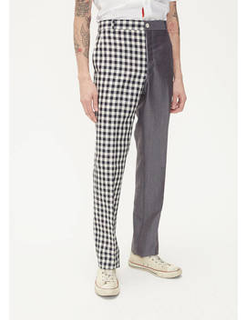 Unconstructed Gingham Mix Trouser by Thom Browne