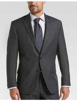 Lauren By Ralph Lauren Charcoal Plaid Classic Fit Suit by Lauren By Ralph Lauren
