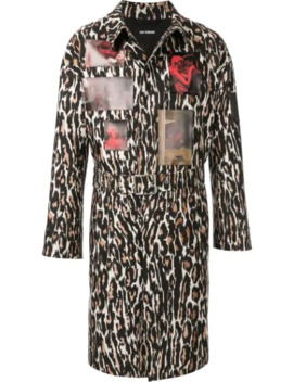 Leopard Photo Print Belted Coat by Raf Simons