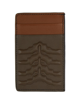 Brown Rib Cage Card Holder by Alexander Mcqueen