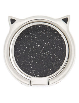 Silver Caticorn Ring Stand   Black by Claire's