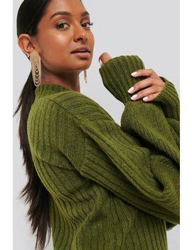 Dropped Big Sleeve Sweater Green by Na Kd Trend