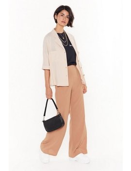 Cut Down To Size Linen Wide Leg Pants by Nasty Gal