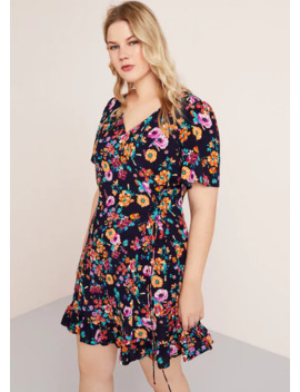 Cord Floral Dress by Mango