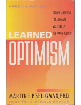 Martin E. P. Seligman Learned Optimism Sc Book by Ebay Seller