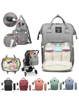Lequeen Multifunctional Waterproof Baby Nappy Diaper Bag Mum Mummy Maternity Travel Usb Backpack For Baby Care by Wish