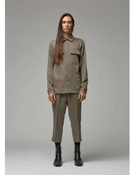 Soft Flannel Work Shirt by Rick Owens