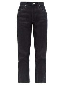 Topstitched Cotton Straight Leg Jeans by Jil Sander