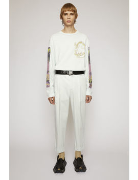 Cropped Tapered Fit Trousers Powder Blue by Acne Studios