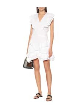 Audrey Ruffled Linen Minidress by Isabel Marant, Étoile